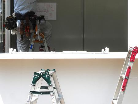 asamblea: Montaje de la cabina prefabricada