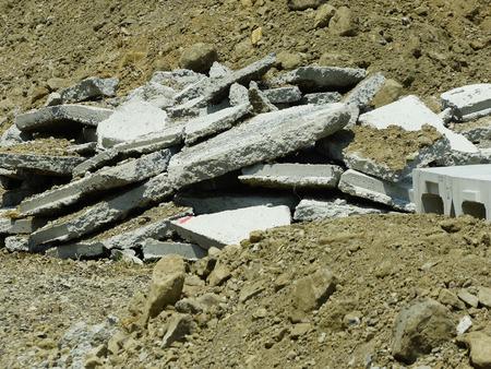 コンクリート瓦礫 写真素材