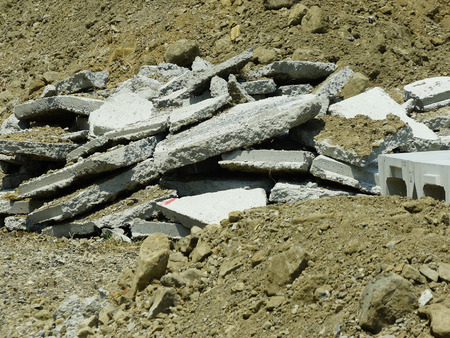 concrete: Concrete rubble