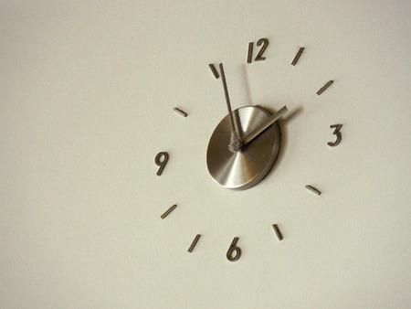 dusty: Clock of dusty Stock Photo