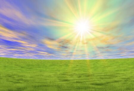 steppe: Meadow and Sun