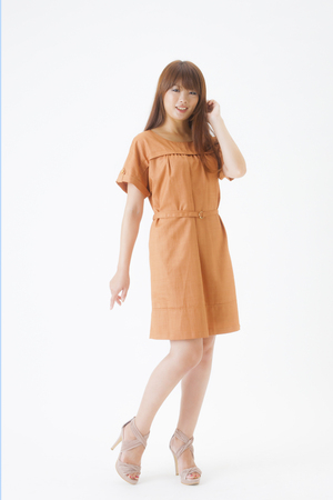 one piece dress: Japanese women in their 30s Stock Photo