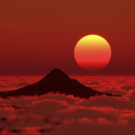 dawning: Mt. Fuji and Asahi Stock Photo