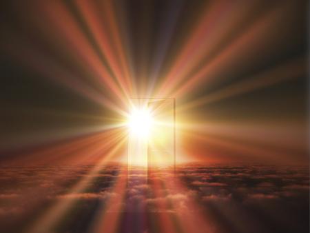 january sunrise: Door light comes