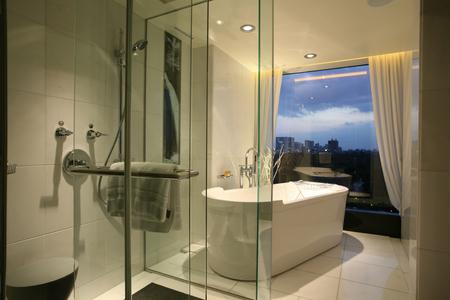 hotel bathroom: Hotel bathroom