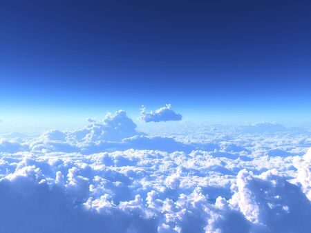 fine weather: Blue sky and clouds