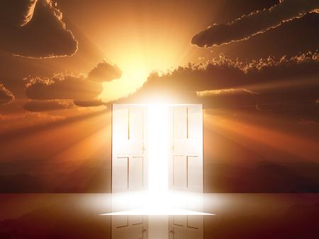 amanecer: Luz de puerta viene
