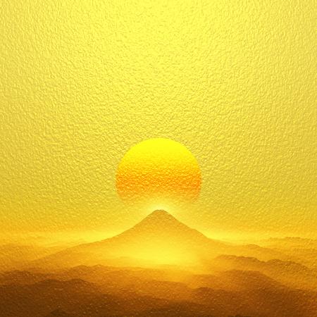 Sunrise of Mt. Fuji Banco de Imagens - 49307666