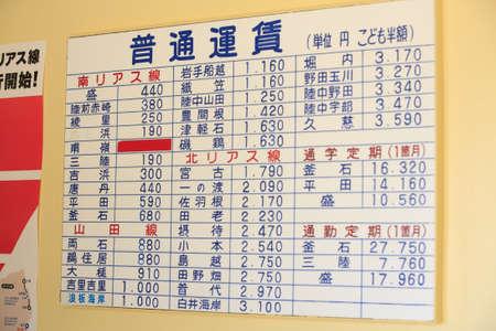 cold storage: Sanriku railway South RIAs line Stock Photo