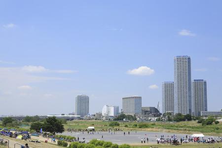 riverbed: A distant view futako-Tamagawa