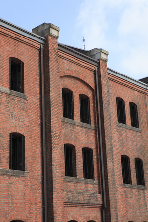industrial heritage: Red brick warehouse Stock Photo