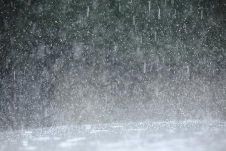 大雨 写真素材