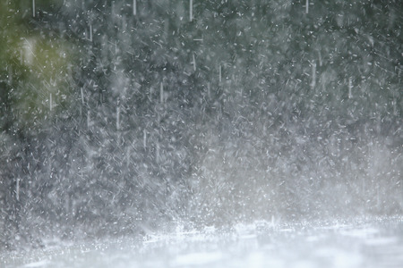 heavy: Heavy rains Stock Photo