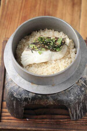bream: Sea bream rice Stock Photo