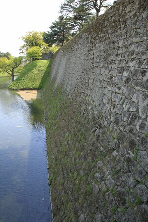 moat wall: Aizu Castle Ishigaki