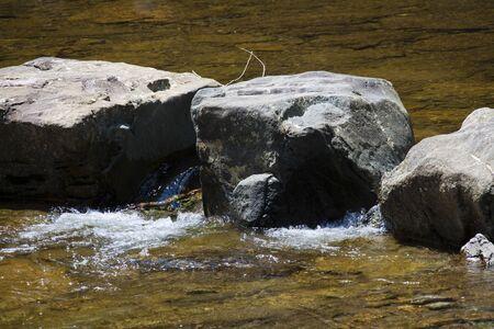 stepping stone: Isuzu River Stock Photo