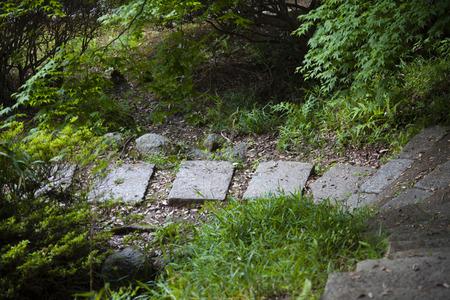 flagstone: Flagstone of Kokawadera Stock Photo