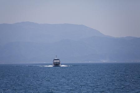 pleasure ship: Lake Biwa Stock Photo