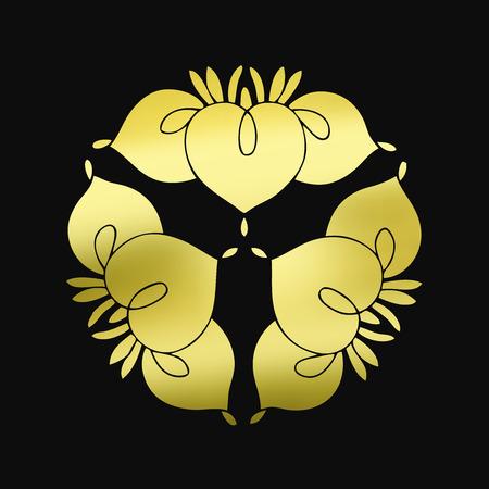 Ass alignment three Iris flowers flower of ass together honey Iris Imagens