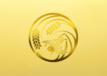 sparrow: The sparrow in a round of a single rice Stock Photo