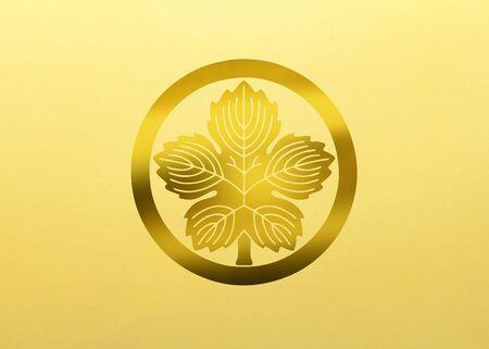 Onikaji の尾輪にラウンドのカジノの葉します。 写真素材