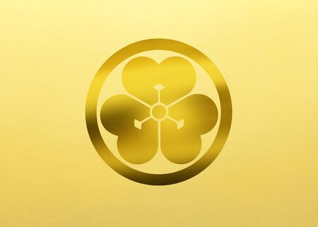 oxalis: To a round Shonai piece  Shonai oxalis in a round