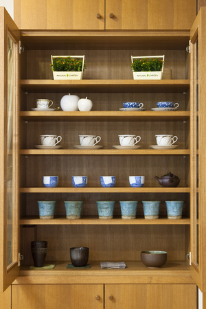 uncluttered: Uncluttered cupboard Stock Photo