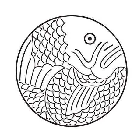 sea mark: Sea bream round Thailand circle Stock Photo