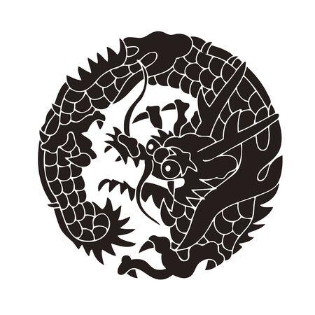 first house: Nichiren dragon round Nichiren dragon circles