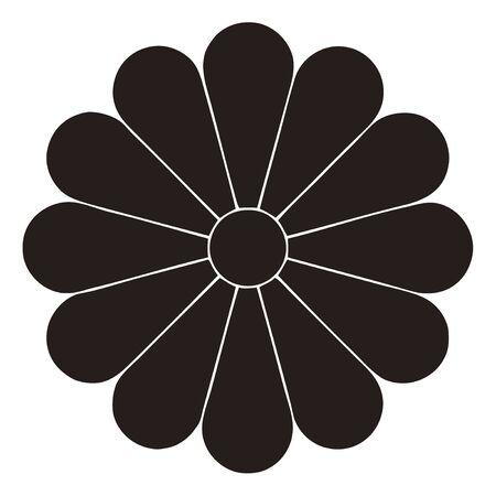 twelve: Twelve chrysanthemum chrysanthemum on gun