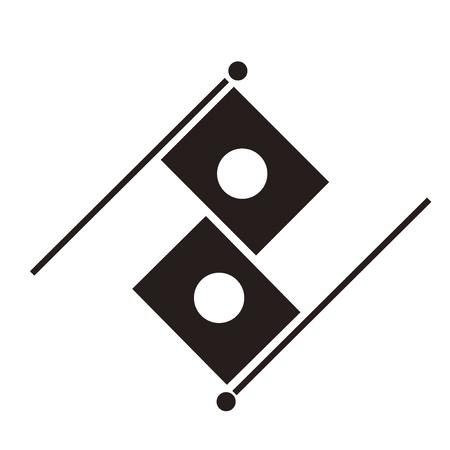 hinomaru: The Irechigai flag Irechigai national flag Stock Photo