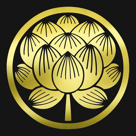middle: Lotus flower in the middle wheel the neutralization Sunohana Stock Photo