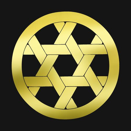 hexagram: Basket eye pattern in a round Kagome pattern in circles