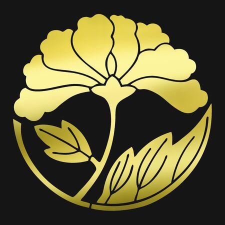 japanese culture: Leaf spread turbulence button morale disturbance button