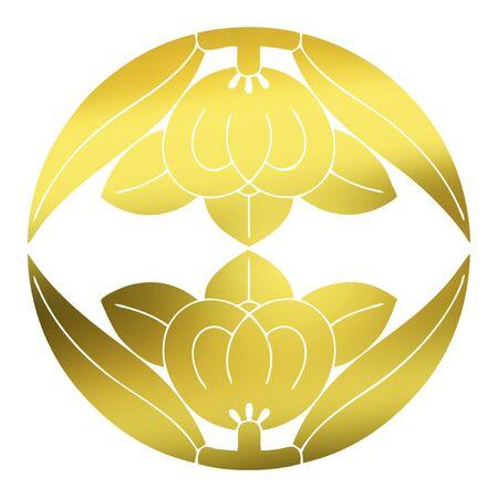 japanese culture: The upper and lower pair have Tachibana vertical Mukai Tachibana