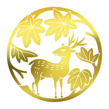 only: Deer in maple only maple