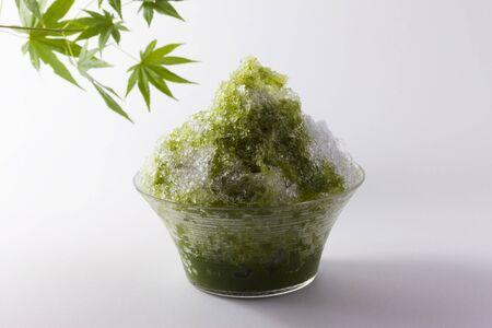 shaved: Uji green tea shaved ice Stock Photo