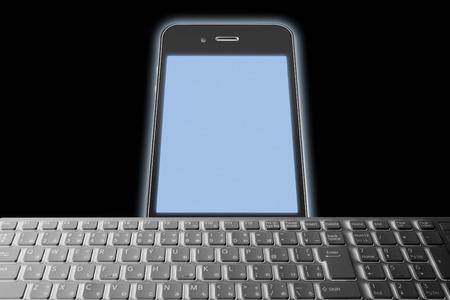 radio unit: Smartphone with keyboard Stock Photo