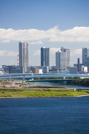 rainbow bridge: Toyosu area seen from the Rainbow Bridge