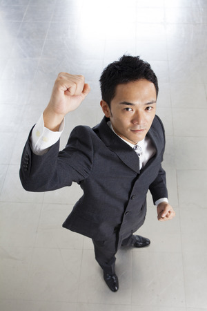 fist pump: Businessman Stock Photo