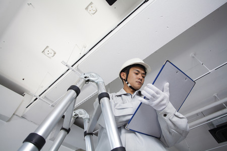 building safety: Male workers