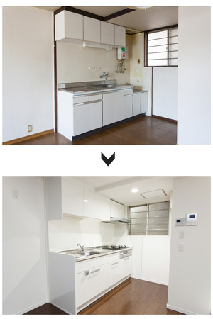 Renovation of the kitchen before and after