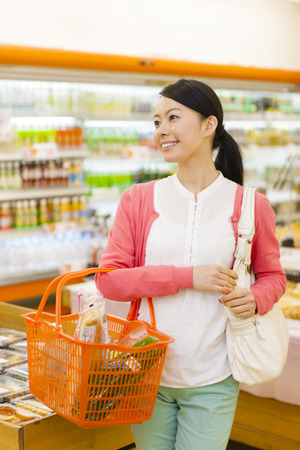 Women to shop at the supermarket Stock Photo - 42675065