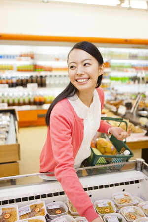 regular people: Women to shop at the supermarket