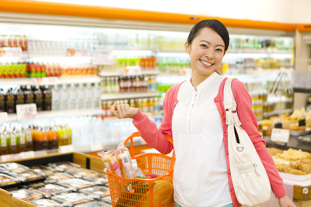 Women to shop at the supermarket
