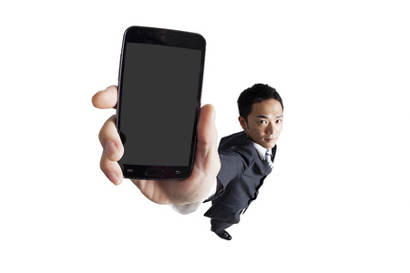 indispensable: Listed in the smart phone business Stock Photo