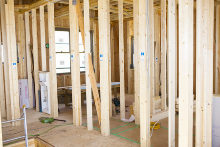 house under construction: House under construction