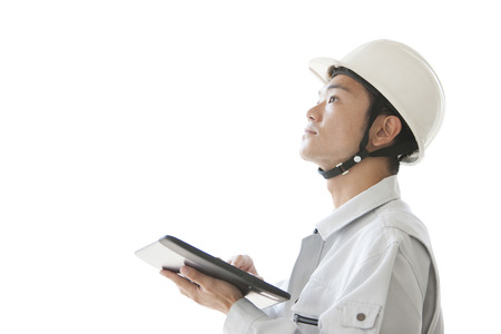 Foreman with a tablet PC