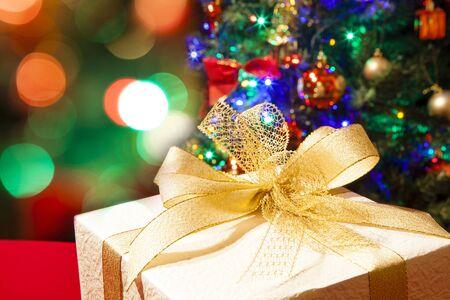illuminations: Christmas gifts and illuminations Stock Photo