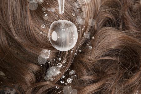 perm: The moisture in the hair